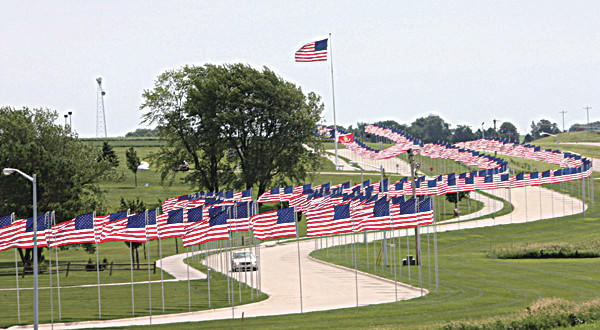 Avenue of Flags in Holstein, Iowa